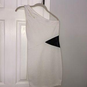 White one shoulder Joyce Leslie Bodycon Dress